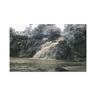 Waterfall in Africa/infrared photography Canvas Print
