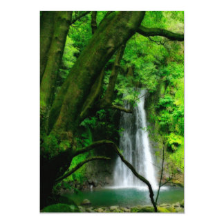 Waterfall in Azores islands Card