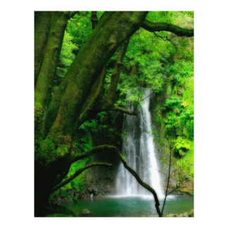 Waterfall in Azores islands Flyers