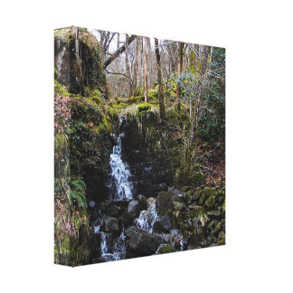 Waterfall in Brecon beacons national park, Wales Canvas Print
