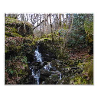 Waterfall in Brecon beacons national park, Wales Photo Print