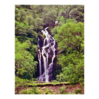 Waterfall In Forest Flyer Design