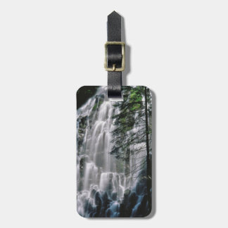 Waterfall in forest, Oregon Luggage Tag
