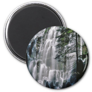 Waterfall in forest, Oregon Magnet