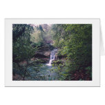 WATERFALL IN FOREST (PHOTOG/ THOREAU QUOTE INSIDE GREETING CARD