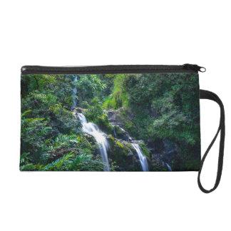 Waterfall in Maui Hawaii Wristlet