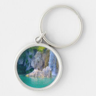 Waterfall in Plitvice National Park in Croatia Keychain
