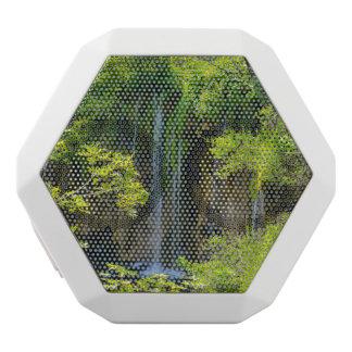 Waterfall in Plitvice National Park in Croatia White Bluetooth Speaker