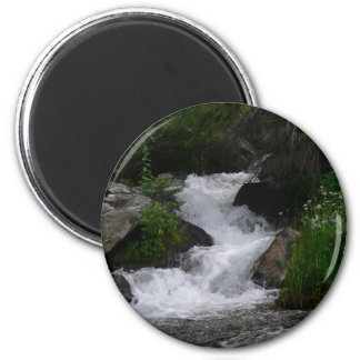 Waterfall in Rocky Mountain National park 2 Inch Round Magnet