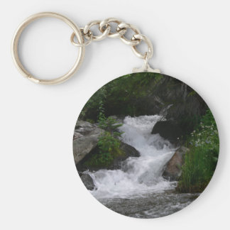 Waterfall in Rocky Mountain National park Keychain