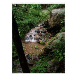 Waterfall in Sandia Mountains Poster