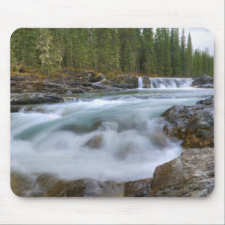 Waterfall In Sheep River In Rocky Mountains Mouse Pad
