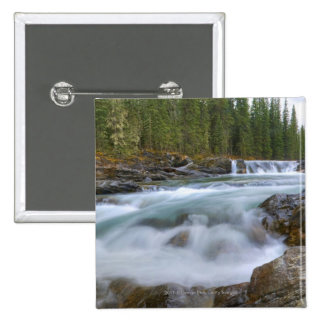 Waterfall In Sheep River In Rocky Mountains Pinback Button