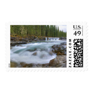 Waterfall In Sheep River In Rocky Mountains Postage