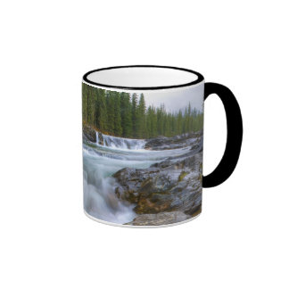 Waterfall In Sheep River In Rocky Mountains Ringer Mug