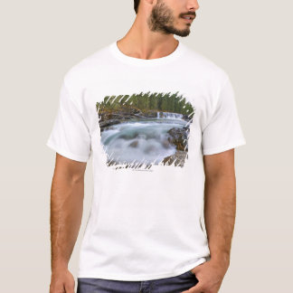 Waterfall In Sheep River In Rocky Mountains T-Shirt