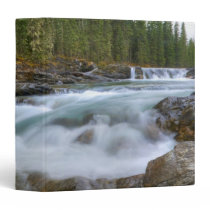 Waterfall In Sheep River In The Canadian Rocky 3 Ring Binder