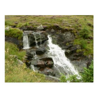 Waterfall In Small Waterstream Postcard
