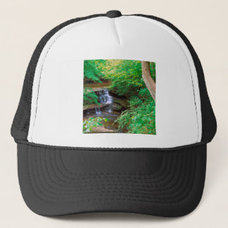 Waterfall In Starved Rock State Park Illinois Trucker Hat