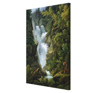 Waterfall in the Bern Highlands, 1796 Canvas Print