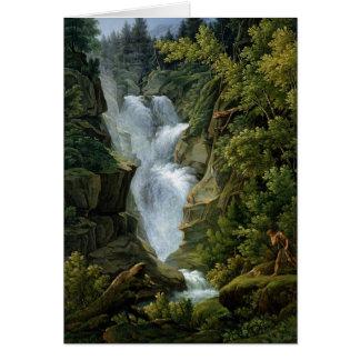 Waterfall in the Bern Highlands, 1796 Card