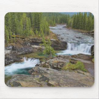 Waterfall In The Canadian Rocky Mountains Mouse Pad