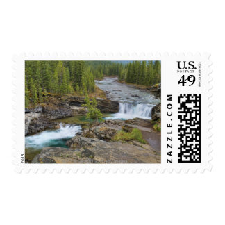Waterfall In The Canadian Rocky Mountains Postage Stamps
