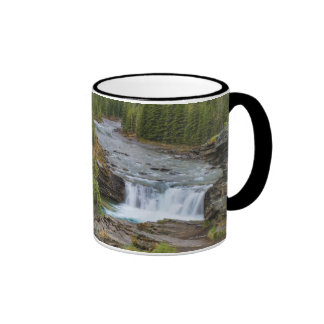 Waterfall In The Canadian Rocky Mountains Ringer Mug