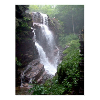 Waterfall in the forest post cards