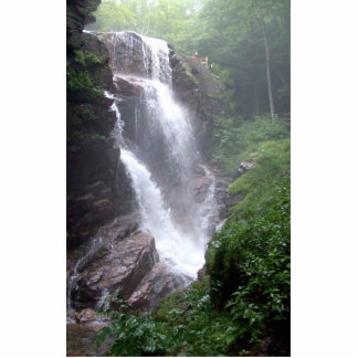Waterfall In The Forest With Rocks Standing Photo Sculpture