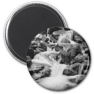 Waterfall in the Great Smoky Mountains 2 Inch Round Magnet