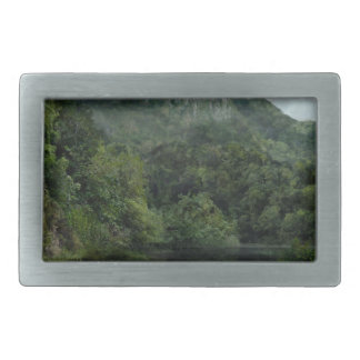 Waterfall in the Mountains Jungle Belt Buckle
