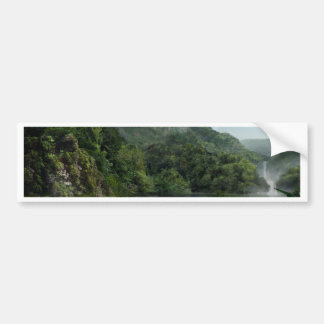 Waterfall in the Mountains Jungle Bumper Sticker
