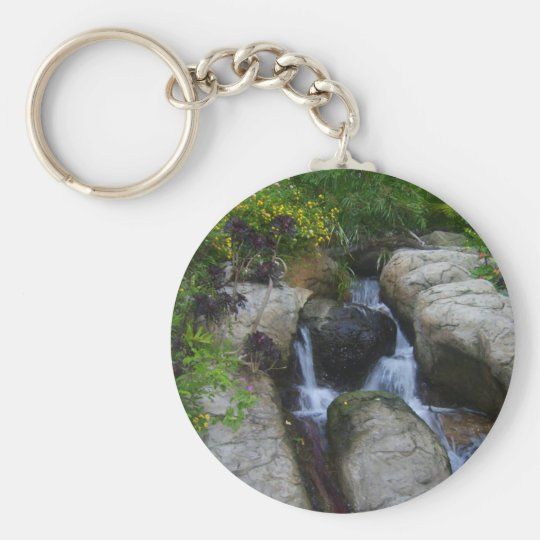 Waterfall in the park keychain