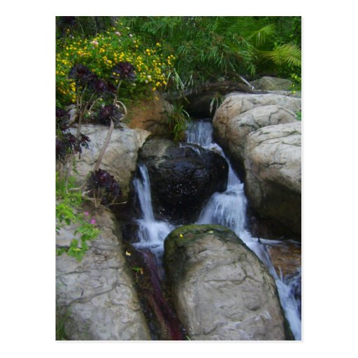 Waterfall in the park postcard