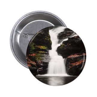 Waterfall in the Poconos of Pennsylvania Button