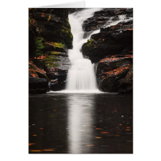 Waterfall in the Poconos of Pennsylvania Card