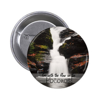 Waterfall in the Poconos Pinback Button