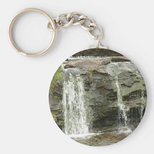 Waterfall In Waterstream Key Chains