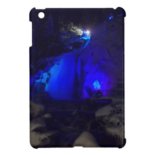 Waterfall in winter iPad mini cases