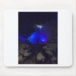 Waterfall in winter mouse pad