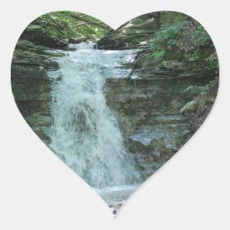 Waterfall in Woods Heart Sticker