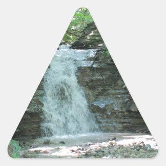 Waterfall in Woods Triangle Sticker