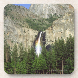 Waterfall in Yosemite National Park, California, Beverage Coaster