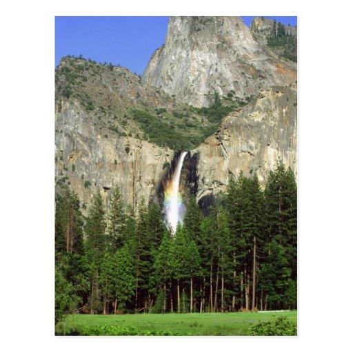 Waterfall in Yosemite National Park, California, Postcard