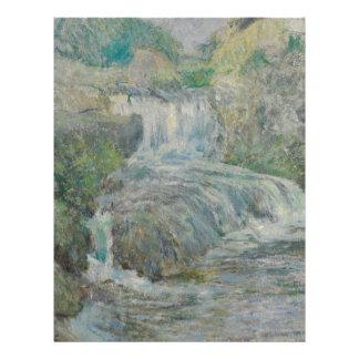 Waterfall - John Henry Twachtman Letterhead