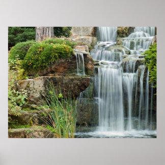 Waterfall Kew gardens Poster