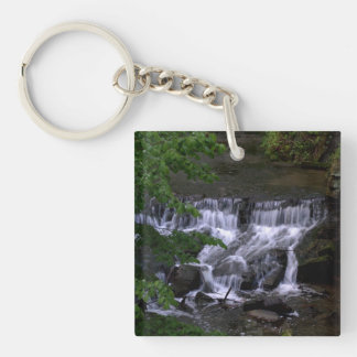 Waterfall Square Acrylic Keychains