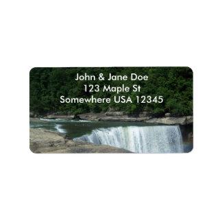 Waterfall Label