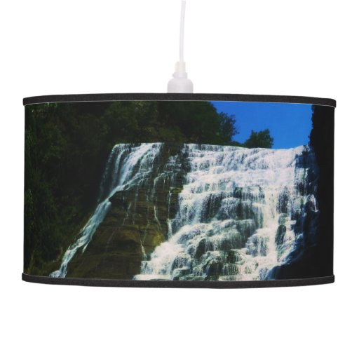 Waterfall lampshade pendant lamps zazzle for Waterfall lamp shade